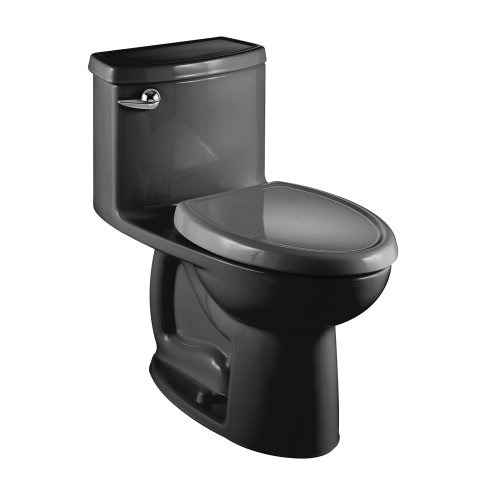 American Standard 2403.012.178 Compact Cadet-3 Elongated One-Piece Toilet, Black