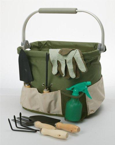 Foldaway Garden Tool Carry Bag Set w Aluminum