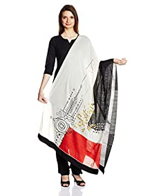 W for Woman Dupatta (16FE80617-91603_White)