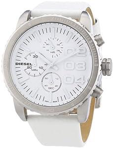 Diesel - DZ5330 - Montre Homme - Quartz Chronographe - Aiguilles lumineuses - Bracelet Cuir Blanc