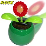 SOLAR POWERED FLIP FLAP TOYS DANCING ORNAMENT FLOWERS
