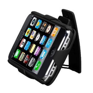 New Black Rubberized Hard Case + Belt Clip Holster For Apple Iphone 3G 3Gs Phone