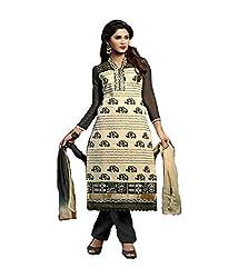 Fashiondiya Antra Chanderi Work Top,Cotton Print Bottom, Nazmin Less Dupatta