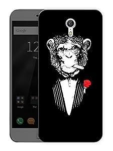 "No So Funny MonkeyPrinted Designer Mobile Back Cover For ""Lenovo Zuk Z1"" (3D, Matte, Premium Quality Snap On Case)"