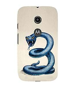 EPICCASE Blue Viper Mobile Back Case Cover For Moto E 2nd Generation (Designer Case)
