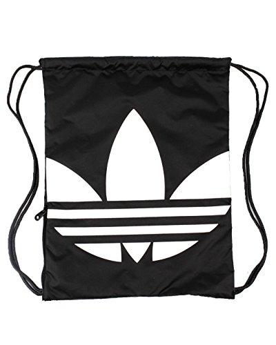 Adidas Gymsack Trefoil - Borsa, Unisex, nero/bianco