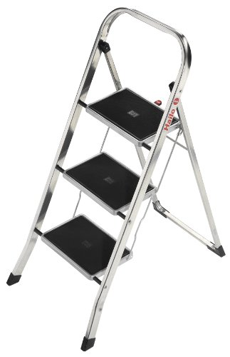 Hailo 4393-801 K30-Model 330-Pound Capacity Aluminum Step Stool, 3-Step
