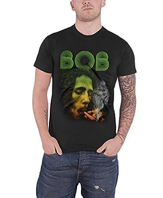 Bob Marley T Shirt Smoking Da Erb Weed Jamaica Official Mens Black