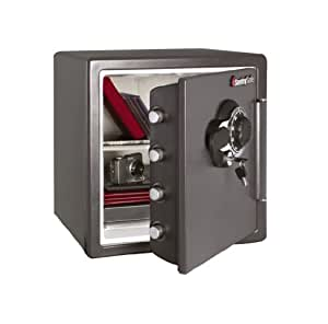 SentrySafe SFW123DSB 1.23 Cubic Feet Combination Fire-Safe, Medium Grey