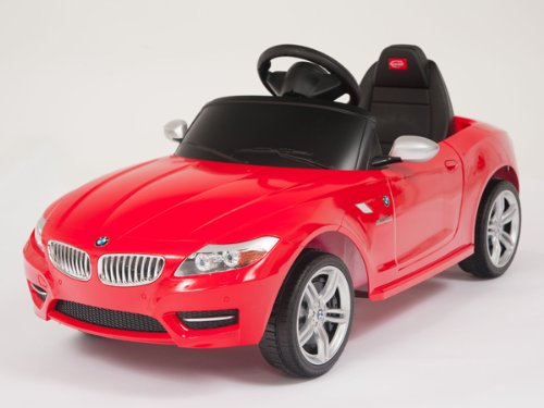 Under Bmw License Z4 Red Limited Edition Ride On Toy Battery Operated Car For Kids, Remote Control, Key, Lights,Mp3 Connection.
