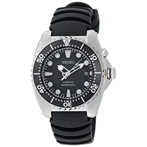 Click to buy Seiko Watches for Men: SKA413 Adventure Kinetic Diver Watch from Amazon!