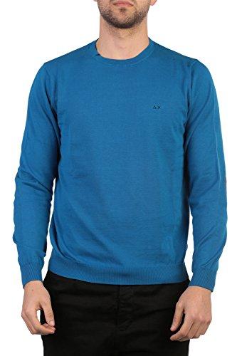 SUN68 Uomo Polo Maglia Giro T-Shirt Primavera Estate Blu Art 16161 58 P16