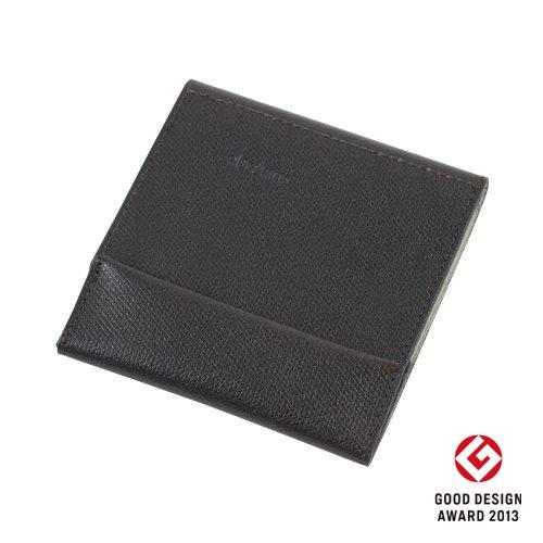 薄い財布 abrAsus(アブラサス)チョコ × ベージュ 7月22日出荷
