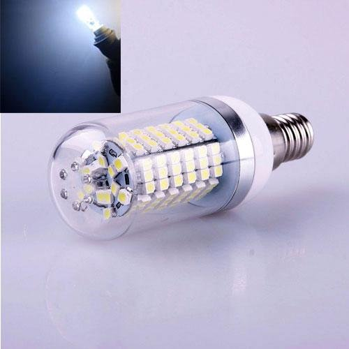 Fashion Particale14 7W 120 Leds 3528 Smd Cover Corn Spotlight Light Lamp Bulb Pure White