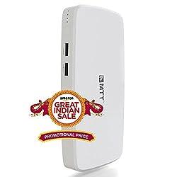 MTT Airpower 13i High Capacity Dual USB Output 13000 mAH Powerbank (White)