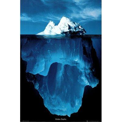 24x36 Hidden Depths Iceberg Art Poster PrintB0000YQGQI : image