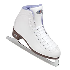 Riedell 13SF White Girls Figure Ice Skates - Kids Ice Skates Soft Boot by Riedell