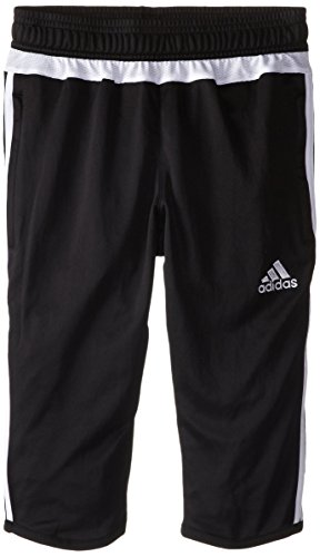 adidas Performance Youth Tiro 15 Three-Quarter Pant, Medium, Black/White/Black (Adidas Warm Up Pants Men compare prices)