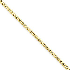 14k Yellow Gold Exotic Wheat Chain Ankle Bracelet 10