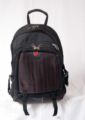 Brand New Military Backpack Travel Laptop School Camping Hiking Ipod Headset Cord Style Brown