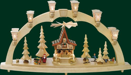 ARC Christmas forest pyramid electric Erzgebirge Seiffen new 01009