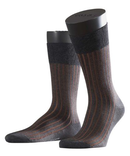FALKE Herren Socken 14648 Shadow Business SO, Gr. 43/44, Grau (flanell 3210)