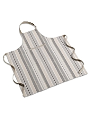Natural Striped Apron