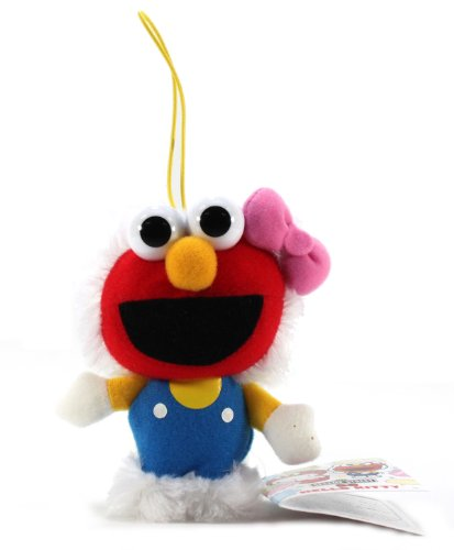 "Furyu Hello Kitty Sesame Street Plush Strap - 3214 - 5"" Hello Kitty Elmo"