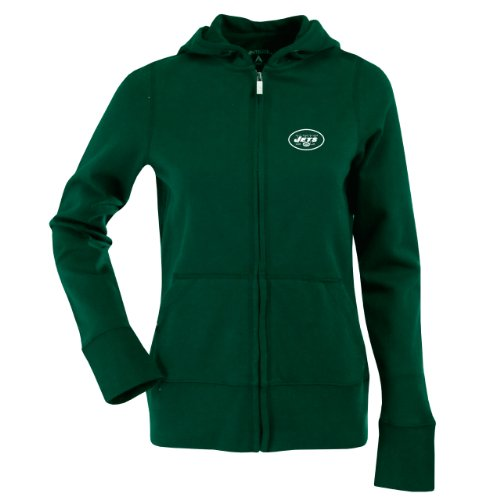 NFL Women's New York Jets Signature Full Zip Hood (Dark Pine, X-Large) at Amazon.com