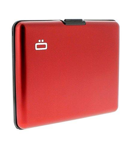 Portefeuille Big Stockholm Rouge Aluminium anodisé Ögon designs BS-Red