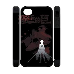 Custom Your Own Personalized Cartoons Manga Series Japanese Anime Attack on Titans Best Durable Iphone 4/4S Case
