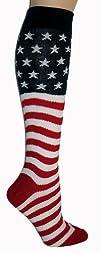 American Flag Knee High SocksOne Size