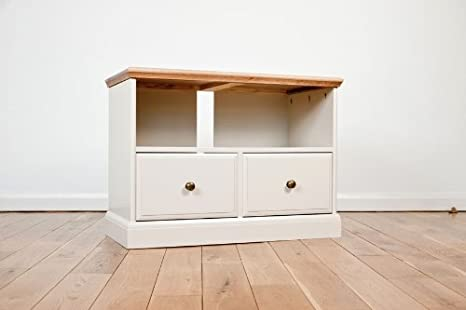 Avana, lackiert, Eiche, mit 2 Schubladen, Möbel tv, dvd Ständer Regal Schrank