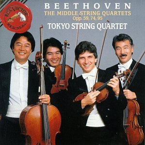 Ludwig Van Beethoven:  Middle Quartets, Op. 59, 74, 95