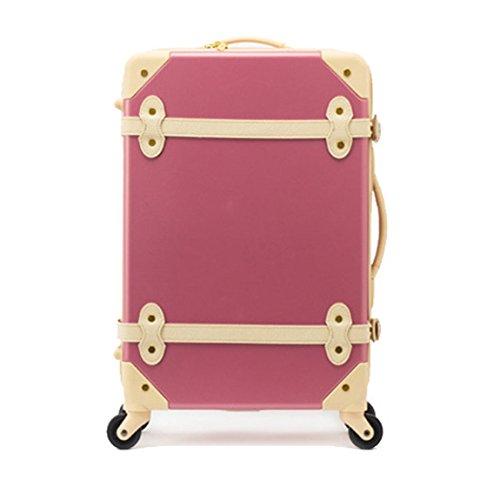 20-EDDAS-Pink-Luggage-Spinner-Wheel-Vintage-Hard-Shell-Suitcase-EV501