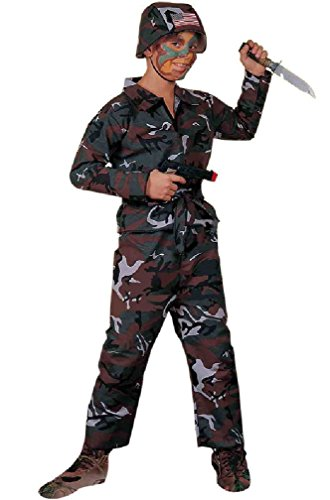 [8eighteen Military Army Soldier Child Costume] (Zombie Soldier Costumes)