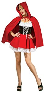 Secret Wishes Sexy Red Riding Hood Costume, Red, Small