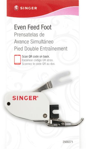 Singer Even Feed Walking Presser Foot For Quilting Or Thick Fabric Sewing On Low-Shank Sewing Machines