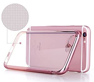 Sales Grid Gold Plating Origin TPU Soft Silicon Back Case Cover for Apple iPhone 6/6s - (Rose Gold Edges)