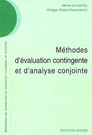 Méthodes d'évaluation contingente et d'analyse conjointe
