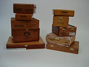 Wooden Empty Cigar Box; pack of 10