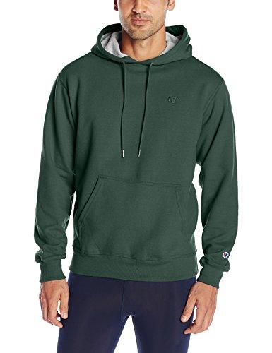 Champion Men's Powerblend Pullover Hoodie, Dark Green, X-Large