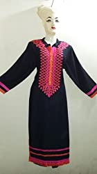 shubham creation women's blue pink rayon Best quality new fasion embroiderd kurti