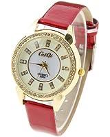 Fashion Women's Lady's Wrist Bracelet Leather Watch Snow 3d Shape Full Rhinestone Watch for Girls Birthday Gifts