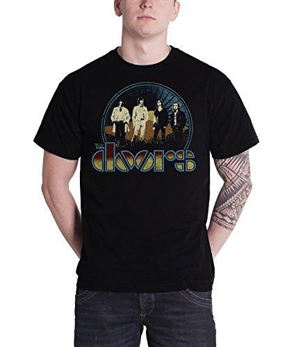 The Doors T Shirt Mens Vintage Field Band Logo Jim Morrison Official Black 0