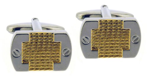 Code Red Base Metal Rhodium Plated With Gold Colour Cufflinks