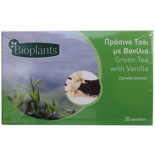 Bioplants Vanilla Green Tea Sachets 30 g (Pack of 4)