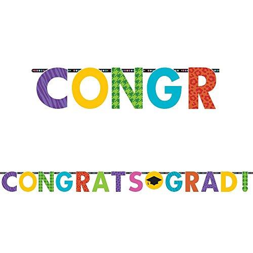 Amscan BB122094 Congrats Grad 10 Letter Banner -Each - 1