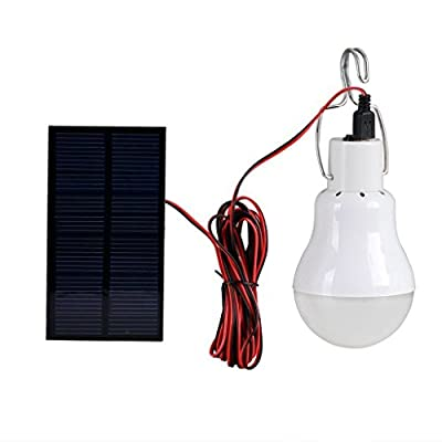 Solla® Solar Powered Led Light Bulb Portable Led Solar Lamp Spotlight with 0.8w Solar Panel for Outdoor Hiking Camping Tent Fishing Lighting