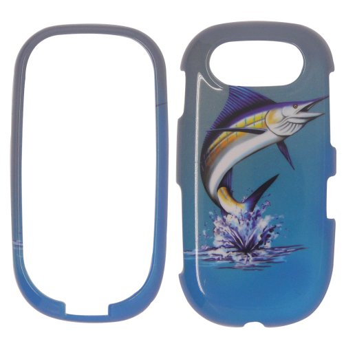 PANTECH EASE P2020 - Marlin Fish on Two Tone Blue and White Realtree camo Plastic Case, SnapOn, Protector, Cover